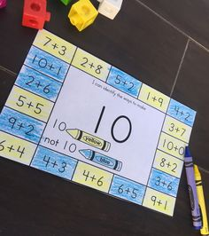 Decomposing numbers printables. Includes combinations of numbers to 10, with and without the support of pictures.