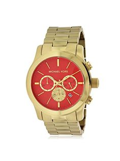 Michael Kors Orange Dial SS Quartz Chronograph Ladies Watch MK5930 >>> Be sure to check out this awesome product.