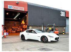 White on Black Maserati Granturismo