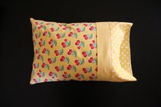 Cherry Travel Pillowcase by RusticRanchHands on Etsy