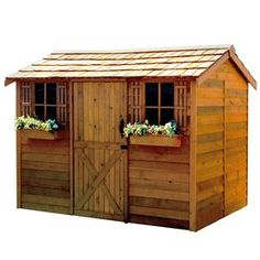 Cedarshed Cabana Gable Cedar Wood Storage Shed (common: 9-ft X 6-ft; Interior…