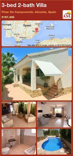 3-bed 2-bath Villa in Pinar De Campoverde, Alicante, Spain ►€197,495 #PropertyForSaleInSpain