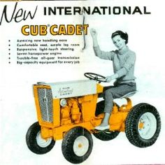 The Tough International Harvester Cub Cadet Compact Garden Tractor International Travelall, International Tractors, Cub Cadet Tractors, Yard Tractors, Homemade Tractor, Vintage Tractors, Small Engine, Big Trucks, Lawn Mower