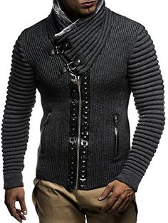 Product review for Leif nelon LN5165 Men's Cardigan With Stud Details and Zip Front.  The stylish turtleneck cardigan with zip front is a must-have for a fashion-conscious man. Leif Nelson LN5165 will keep you warm and make sure your look is eye-catching and attractive. A designer collar and stud details help to create an exceptional outfit no matter what you combine this...