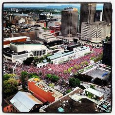 Nice shot of the May 22nd manifestation in Downtown Montreal - the 100th day of the student strike.