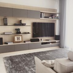 Modern living room photos by flam rugs i homify Modern Tv Unit Designs, Living Room Tv Unit Designs, Living Room Styles, Living Room Photos, Living Room Mirrors, Living Room With Fireplace, Small Living Rooms, Living Room Decor, Muebles Rack Tv