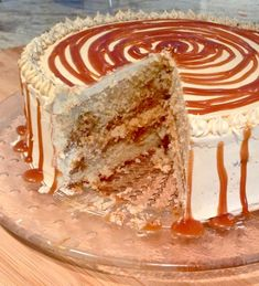 Caramel Soaked Cake with Burnt Caramel French Buttercream