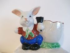 Vintage Rabbit With Bell Egg Cup Made In JAPAN
