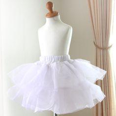 ウエストフリーサイズ 子供ドレスに対応 結婚式・発表会に! ボリュームアップパニエ (46cm30cm丈ペチコート)ドレス用