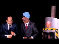 Politique France Les Guignols Lakshmi Mittal et François Hollande - http://pouvoirpolitique.com/les-guignols-lakshmi-mittal-et-francois-hollande/