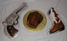 Cowboy Cake Decorating Ideas | Western Party Cake Decorations Pictures