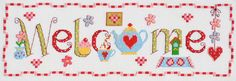 Welcome Word Cross Stitch Kit £23.50 | Past Impressions | Nia
