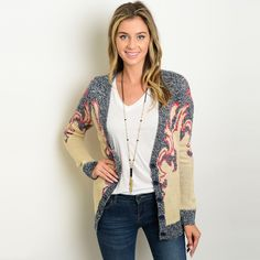 Shop for Shop the Trends Women's Grey and Beige Acrylic Long-sleeved Chunky-knit Cardigan Sweater with Buttondown Closure. Get free delivery On EVERYTHING* Overstock - Your Online Women's Clothing Destination! Chunky Knit Cardigan, Black Cardigan, Sweater Cardigan, Cozy Sweaters, Sweaters For Women, Grey And Beige, Taupe, Plain Shirts, Dress Patterns