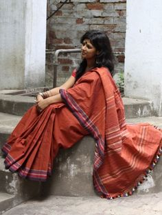 Handwoven Sarees from Kutch, India.