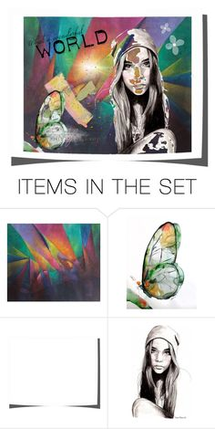 """""""Wonderful world"""" by xxmobxx ❤ liked on Polyvore featuring art"""