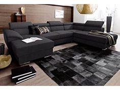 Wohnlandschaft, wahlweise mit Bettfunktion online kaufen im www.cnouch.de Shop