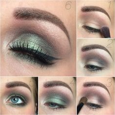 Emerald green eye makeup #tutorial #evatornadoblog #mua #howto