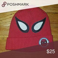 big sale 04a67 aa343 Junk food Gap Spiderman Hat, Size M L Adorable red Spiderman winter hat,
