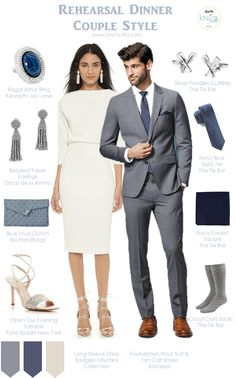 Bride and Groom Couple Style - Rehearsal Dinner Style - Rehearsal Dinner Couple Attire - Grey Groom Styling - Grey Groom Wedding Idea - Grey Wedding Ideas - Blue Wedding Style - Grroms in Blue - Grey Wedding Coat - Grey Wedding Suit Jacket Beach Wedding Men Outfit, Fall Wedding Suits, Grey Suit Wedding, Wedding Coat, Perfect Wedding Dress, Wedding Attire, Trendy Wedding, Blue Wedding, Wedding Ideas