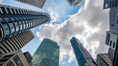 Download this 5K wallpaper #sky #skyscrapers #urban #city #nature #clouds  http://5kwallpapers.com/wall/sky-between-skyscrapers