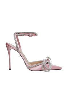 Crystal Satin Pumps by Mach & Mach Fab Shoes, Me Too Shoes, Casual Shoes, Bridal Shoes, Wedding Shoes, Shops, Designer Pumps, Satin Pumps, Stiletto Heels