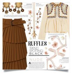 """What a Frill: Ruffles"" by dolly-valkyrie ❤ liked on Polyvore featuring Isabel Marant, Giuseppe Zanotti, Dolce&Gabbana, Magdalena Frackowiak, ruffles, whatafrill and RuffLyfe"