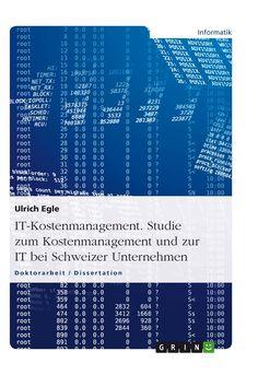 IT-Kostenmanagement. Studie zum Kostenmanagement und zur IT bei Schweizer Unternehmen GRIN: http://grin.to/5ZeVB Amazon: http://grin.to/5tRd7