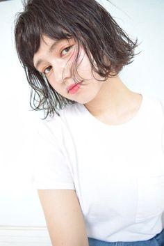 塩釜 Short Hair Cuts, Short Hair Styles, Salon Style, Hair Images, Shoulder Length Hair, Short Bob Hairstyles, Love Hair, New Hair, Bangs