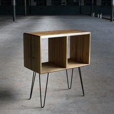Store your vinyl in style. // Bear It No More, Tulip Poplar Record Player Cabinet