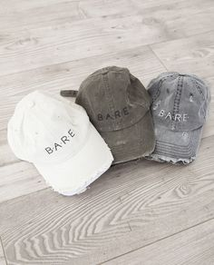 B.A.R.E. Distressed Baseball Caps