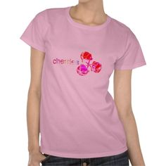 New Spring Styles | Cherries for Her | Fun Design T-Shirt | designed by groovygap.com | #loveCherries #newPinkStyle