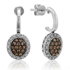 Levian Chocolate Diamond Earrings that match my necklace!!!