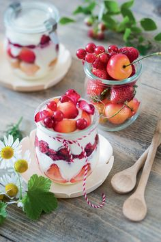 Verrines de fruits et msacarpone