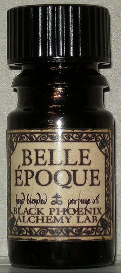 Belle Epoque by BPAL:  France's Golden Time: an age of beauty, innovation and peace in France that lasted from the 19th Century through the first World War and gave birth to the cabaret, the cancan, and the cinema as well as the Impressionist and Art Nouveau movements. Sweet opium, Lily of the Valley, vanilla, mandarin and red sandalwood.