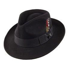 Jaxon & James Crushable C-Crown Fedora - Black from Village Hats. Jaxon Hats, James Ford, Big Letters, Hat Size Chart, Mad Hatters, Fedora Hat, Hat Sizes, Grosgrain Ribbon, Classic Looks