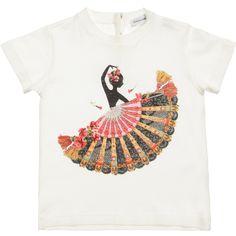 Dolce & Gabbana Baby Girls Ivory Spanish Dancer T-Shirt at Childrensalon.com