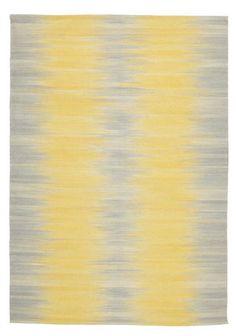 Grey and yellow Kelim rug