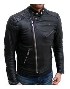 Biker Black Racer Leather Jacket