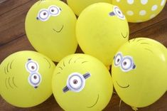 Balloons at a Minion Despicable Me Party; I love the minions! 3rd Birthday Parties, Birthday Fun, Birthday Ideas, Minion Balloons, Despicable Me Party, Minion Party Games, Party Mottos, Minion Birthday, Party Decoration