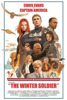 Captain America: The Winter Soldier poster by Paolo Rivera