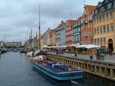 Nyhavn Harbor in Copenhagen, Denmark
