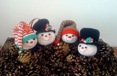 Snowmen Ornaments - AmigurumiBB - Free Patterns