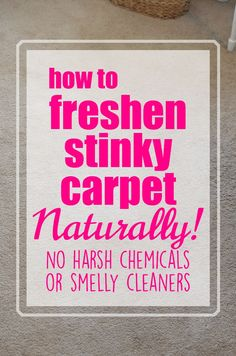 If you have pets or children or people living in your house and have carpet, then you know it can get a bit ripe... as in stanky.  Here is my method for how to freshen carpet - Naturally!