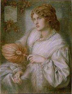 Woman with a Fan (1870) D G Rossetti