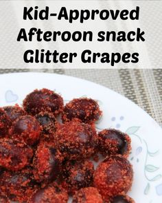 Kids are always hungry but you want them to eat something healthy. Try these kid approved snacks as a way to fill their belly. Glitter grapes, easy to make. via @debitalks