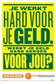 Dutch poster for ING by Anthony Burrill