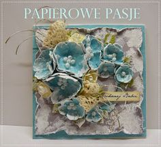 Papierowe pasje.: Niebiesko-szara:)