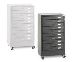 Bieffe BF 10 Drawer Mobile Steel Organizer Cabinets