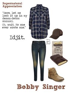 """Supernatural Appreciation: Bobby Singer"" by curvygeekyfangirl ❤ liked on Polyvore featuring City Chic"