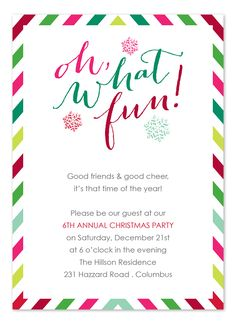 1545c88cd2fe  Festive Fun  holiday party invite by Invitation Consultants Adult  Christmas Party
